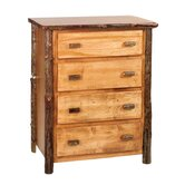 Hickory Four Drawer Chest