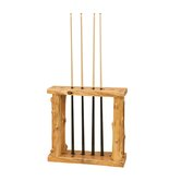 Traditional Cedar Log Pool Cue Rack