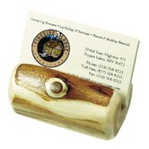 Traditional Cedar Log Business Card Holder