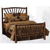 Hickory Sunburst Slat Bed