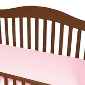 Jersey Knit Cotton Crib Sheet with Safety Corners in Pink