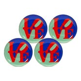 "Robert Indiana ""Love"" Dessert / Salad Plate"