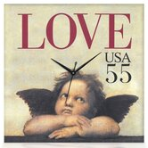 Love Cupid Canvas Wall Clock