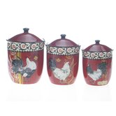 La Provence Rooster Canister by Jennifer Brinley (Set of 3)