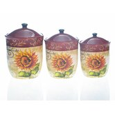 Tuscan Sunflower Canister by Tre Sorelle (Set of 3)
