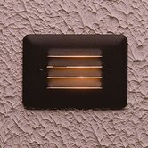 Architectural Bronze Acrylic Lens Step Light with Louver Face