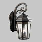 Courtyard Fluorescent Outdoor Wall Lantern in Rubbed Bronze