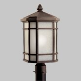 Cameron Fluorescent Light Outdoor Post Lantern in Prairie Rock