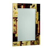 Cody Rectangular Beveled Mirror in Multi Color