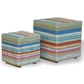 Funstripes Square Storage Stool (Set of 2)