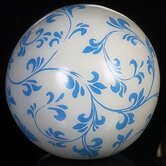 Misty Blue on White Background Decorative Balls (Set of 4)