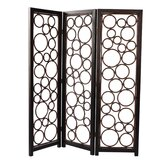 Roma Three Panel Room Divider in Brown