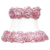 Ring of Roses Chandelier Shade in White