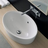 Matty Ovale A Built-In Bathroom Sink in White