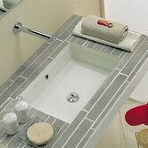 Tech Undermount Bathroom Sink in White