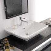 Kylis /R Wall mounted or Above Counter Bathroom Sink in White