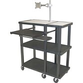 Tuffy Open Shelf Extra Wide Presentation Station with Black Legs