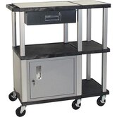 Tuffy Extra Wide Presentation Station with Nickel Cabinet and Legs