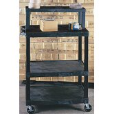 Tuffy Stand - Up Mobile Workstation with Work Shelf