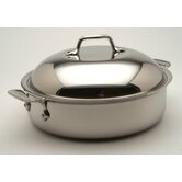 Stainless 4-qt. Sauteuse Pan with Lid
