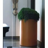 Fang Cilinder Lacquered Round Flower Pot Planter