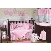 Pink Chenille and Satin Crib Bedding Collection