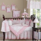 Pink French Toile 9 Piece Crib Bedding Set