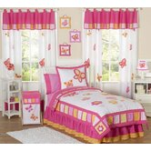 Butterfly Pink Orange Kid Bedding Collection