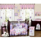 Butterfly Pink and Purple Collection 9pc Crib Bedding Set