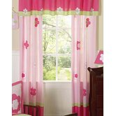 Flower Pink and Green Collection Window Panels