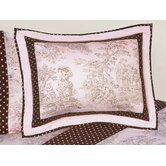 Pink and Brown Toile Collection Standard Pillow Sham