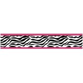 Funky Zebra Wallpaper Border