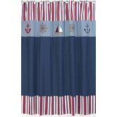 Nautical Nights Cotton and Microsuede Shower Curtain