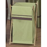 Green and Brown Hotel Laundry Hamper