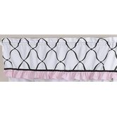 Princess Black, White and Pink Collection Window Valance