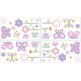 Butterfly Pink and Purple Wall Decals Sheets (Set of 4)
