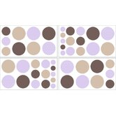 Mod Dots Purple Collection Wall Decal Stickers