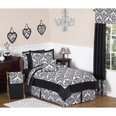 Isabella Black and White Collection 3pc Full/Queen Bedding Set