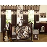 Teddy Bear Chocolate Collection 9pc Crib Bedding Set