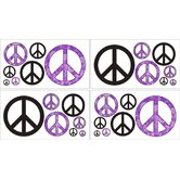 Peace Purple Collection Wall Decal Stickers