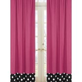Hot Dot Rod Pocket Curtain Panel (Set of 2)