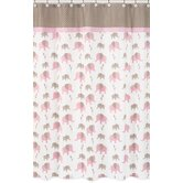 Elephant Pink Collection Shower Curtain