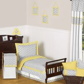 Yellow and Gray Zig Zag Toddler Bedding Collection