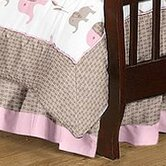 Elephant Pink Collection Toddler Bed Skirt
