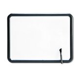 "Contour Dry-Erase Board in White with Gray Frame 24"" W x 18"" D"