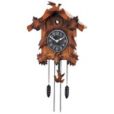 Wooden Musical Cuckoo Clock with Pendulum in Solid Wood