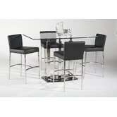 Cilla 5 Piece Counter Height Dining Set