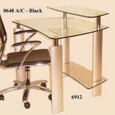 Tempered Glass Computer Desk with Metal Legs
