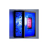 FN3 Wall Sconce with Three Magic Art Glass Panels