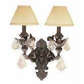 Crystal Flair   Wall Sconce with Crystal Accents in Enriched Iron